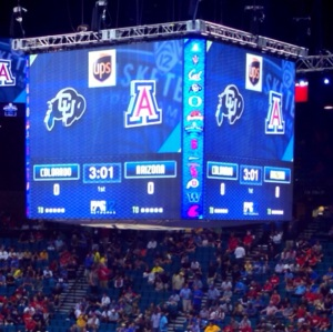 Basketball Scoreboard at MGM 2013