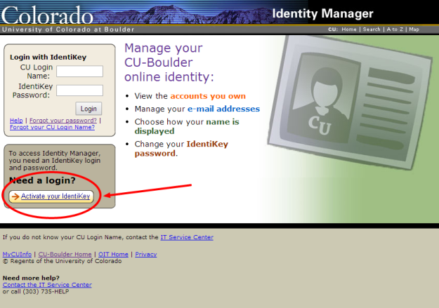Identity Manager Screen Shot